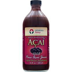 GENESIS TODAY 100% Wild Harvested Acai Juice 16 fl.oz