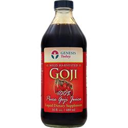 GENESIS TODAY 100% Wild Harvested Goji Juice 16 fl.oz