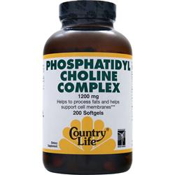 COUNTRY LIFE Phosphatidyl Choline Complex (1200mg) 200 sgels