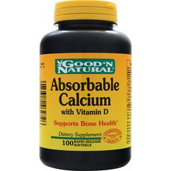 GOOD 'N NATURAL Absorbable Calcium with Vitamin D 100 sgels