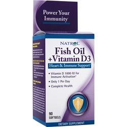Natrol Fish Oil + Vitamin D3 90 sgels