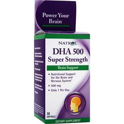 Natrol DHA 500 Super Strength 30 sgels