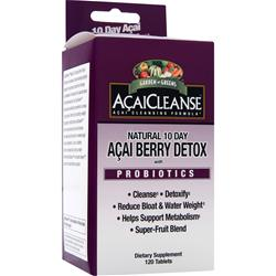 Garden Greens AcaiCleanse Natural 10 Day Acai Berry Detox with Probiotics 120 tabs