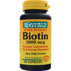 Good 'N Natural Biotin (5000mcg) 60 caps