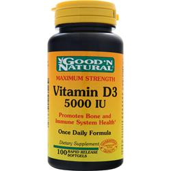 GOOD 'N NATURAL Vitamin D3 (5000IU) 100 sgels