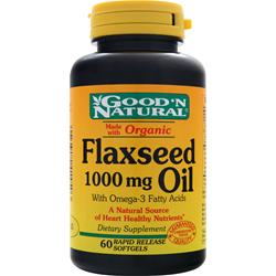 GOOD 'N NATURAL Flaxseed Oil (1000mg) 60 sgels