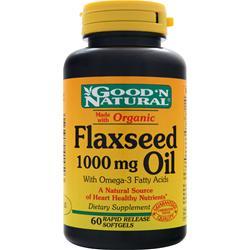 Good 'N Natural Flaxseed Oil (1000mg) 60 sgels