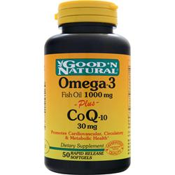 Good 'N Natural Omega-3 (1000mg) plus CoQ-10 (30mg) 50 sgels