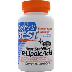 DOCTOR'S BEST Best Stabilized R-Lipoic Acid (100mg) 180 vcaps