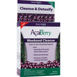 NATROL AcaiBerry Weekend Cleanse Best by 8/14 30 caps