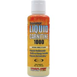 IRON-TEK Essential Liquid Carnitine 1000 Natural Vanilla 16 fl.oz