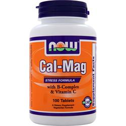 NOW Cal-Mag  w/ B-Complex & Vitamin C 100 tabs