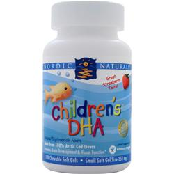 NORDIC NATURALS Children's DHA (Chewable) Strawberry 180 sgels