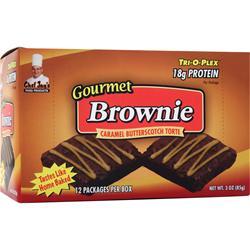 CHEF JAY'S Tri-O-Plex Brownies CaramelButterscotch Torte 12 pckts