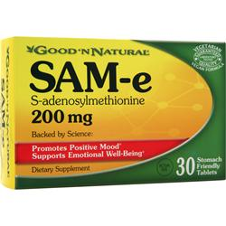 GOOD 'N NATURAL SAM-e (200mg) Best by 9/14 30 tabs
