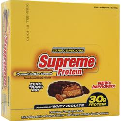 SUPREME PROTEIN Supreme Protein Bar - Carb Conscious Peanut Butter Crunch 12 bars