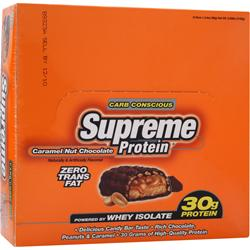 SUPREME PROTEIN Supreme Protein Bar - Carb Conscious Caramel Nut Chocolate 12 bars