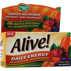 Nature's Way Alive Daily Energy Multivitamin - Multimineral Caffeine-Free 60 tabs