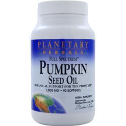 Planetary Formulas Pumpkin Seed Oil (1000mg) 90 sgels
