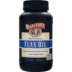 Barlean's Highest Lignan Flax Oil 250 sgels