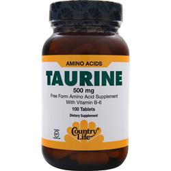 COUNTRY LIFE Taurine (500mg) 100 tabs