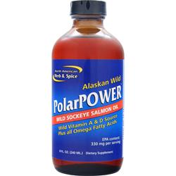 North American Herb & Spice PolarPower Liquid - Wild Sockeye Salmon Oil 8 fl.oz