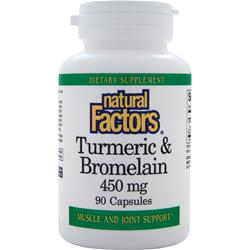 NATURAL FACTORS Tumeric & Bromelain (450mg) 90 caps