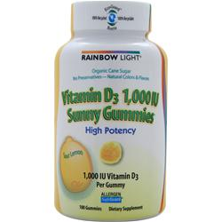 RAINBOW LIGHT Vitamin D Sunny Gummies (1000IU) Sour Lemon 100 gummy