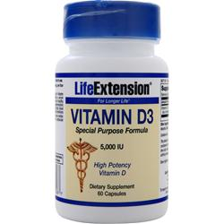 LIFE EXTENSION Vitamin D3 (5000IU) 60 caps