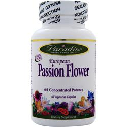 Paradise Herbs European Passion Flower 60 vcaps