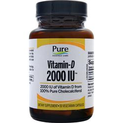 Pure Essence Labs Vitamin-D (2000IU) 30 vcaps