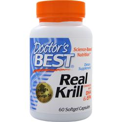 Doctor's Best Real Krill - Enhanced with DHA & EPA 60 sgels