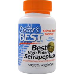 Doctor's Best Best High Potency Serrapeptase (120,000 Units) 90 vcaps