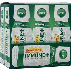 Alacer Emer'gen-C Immune + System Booster Shot Citrus 6 vials