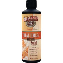 BARLEAN'S Total Omega 3-6-9 Swirl Orange Cream 16 fl.oz