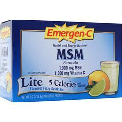 ALACER Emer'gen-C  Lite with MSM Citrus 30 pckts