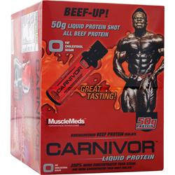 MuscleMeds Carnivor Liquid Protein Shots Orange Blast 12 bttls