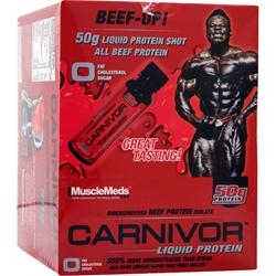 MUSCLEMEDS Carnivor Liquid Protein Shots Power Punch 12 bttls
