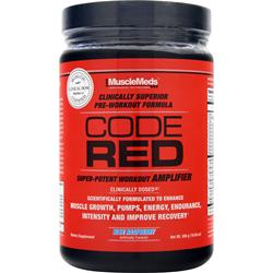 MUSCLEMEDS Code Red Blue Raspberry 300 grams