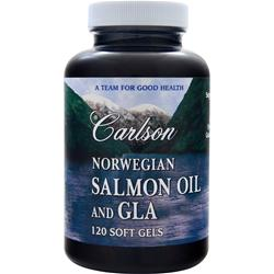 CARLSON Norwegian Salmon Oil and GLA 120 sgels