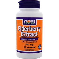NOW Elderberry Extract (500mg) 60 vcaps