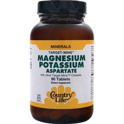 COUNTRY LIFE Target Mins - Magnesium Potassium Aspartate 90 tabs