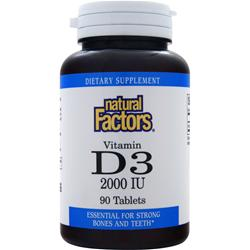 NATURAL FACTORS Vitamin D3 (2000IU) 90 tabs