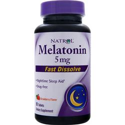 NATROL Melatonin Fast Dissolve (5mg) Strawberry 90 tabs