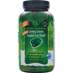 Irwin Naturals Men's Living Green Liquid-Gel Multi 120 sgels