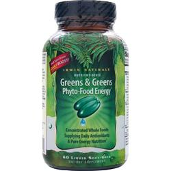 IRWIN NATURALS Greens & Greens Phyto-Food Energy 60 sgels