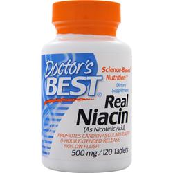 DOCTOR'S BEST Real Niacin (500mg) 120 tabs