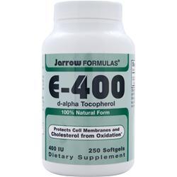 JARROW E-400 (d-alpha Tocopherol) 250 sgels