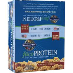 GARDEN OF LIFE Fuco Protein Bar Peanut Butter Crunch 12 bars