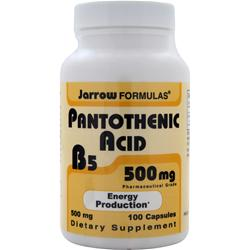 JARROW Pantothenic Acid B5 (500mg) 100 caps